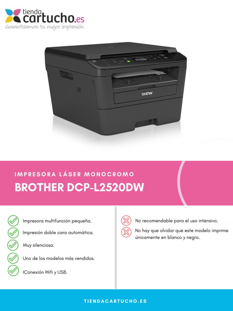 Descubre la BROTHER DCP L2520DW