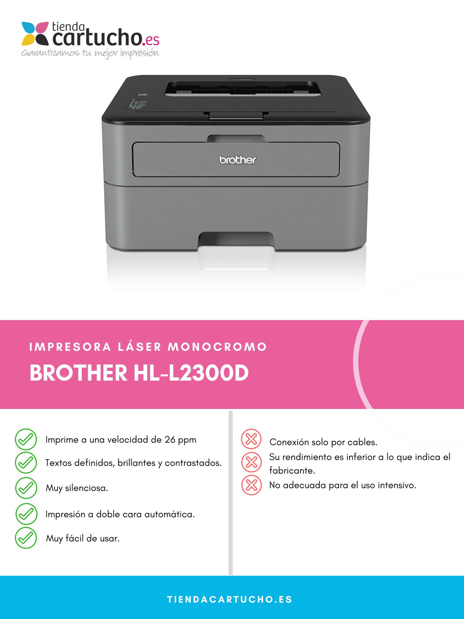 ▷ Impresora Brother HL-L2300D |【Review 2018】