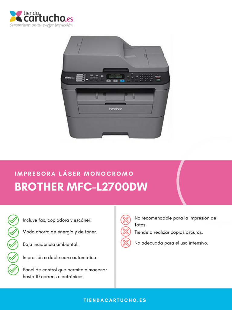 Descubre la BROTHER MFC-L2700DW