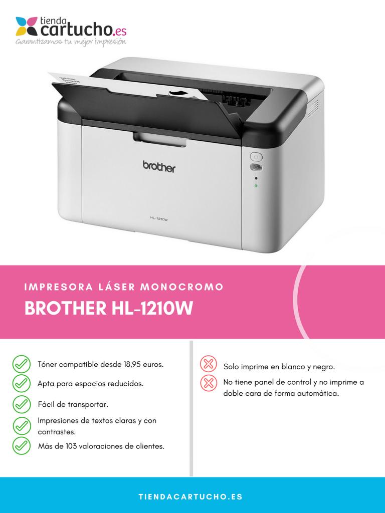 Descubre la Brother HL-1210W