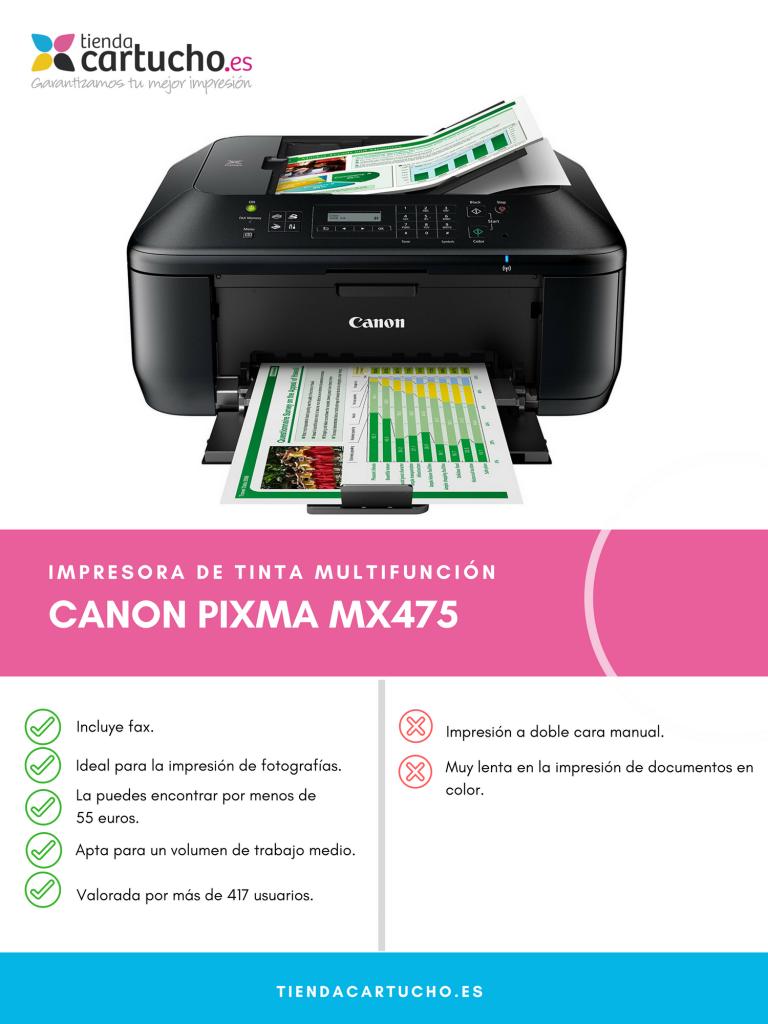 Pros y contras Canon PIXMA MX475