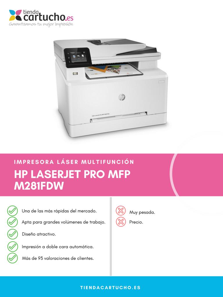 Descubre la HP Color Laserjet Pro MFP M281fdw