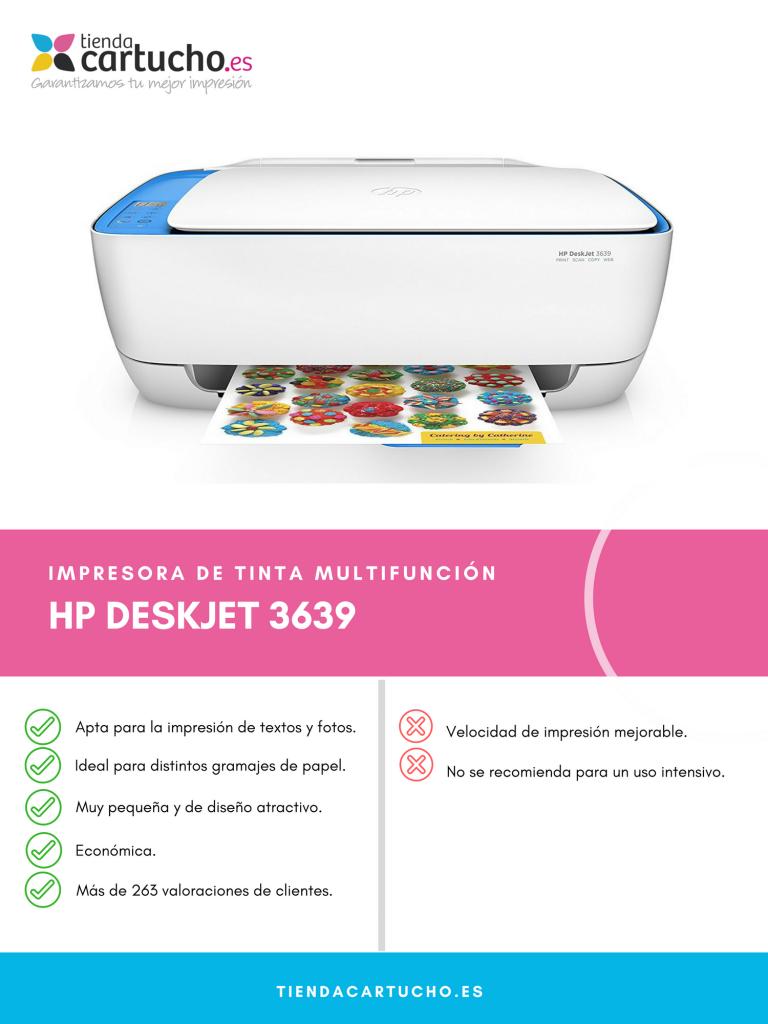Descubre la HP Deskjet 3639