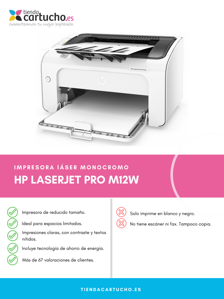 Descubre la impresora HP LaserJet Pro M12w