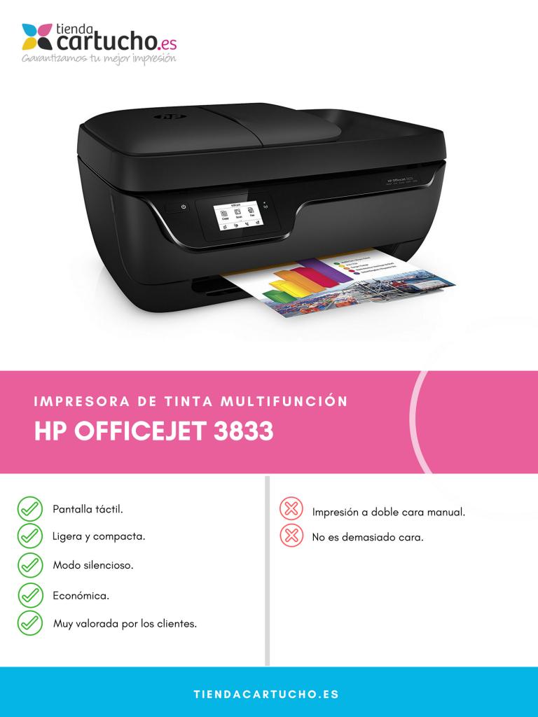 Descubre la HP Officejet 3833