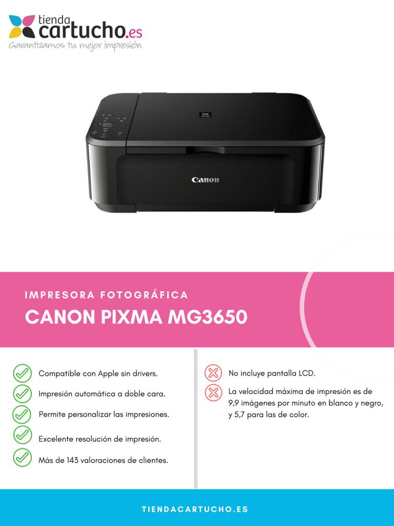 Descubre la Canon Pixma MG3650