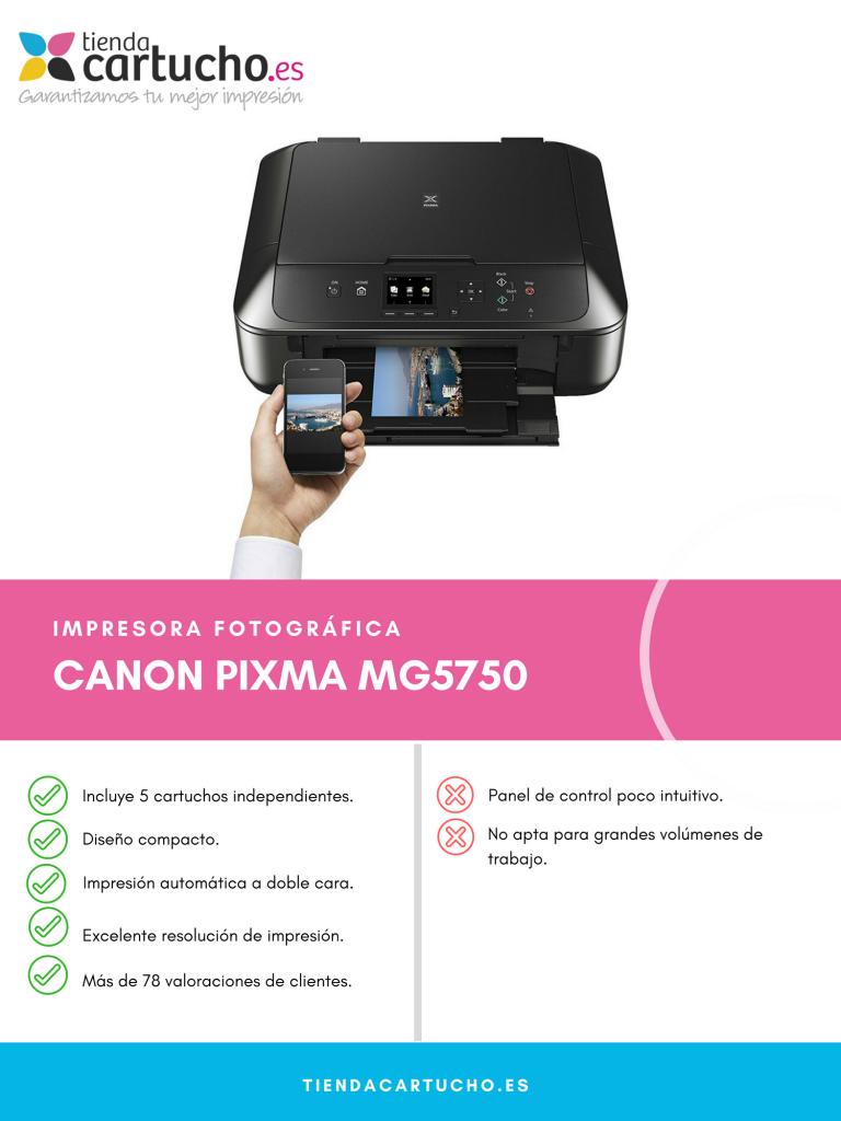Descubre la Canon Pixma MG5750