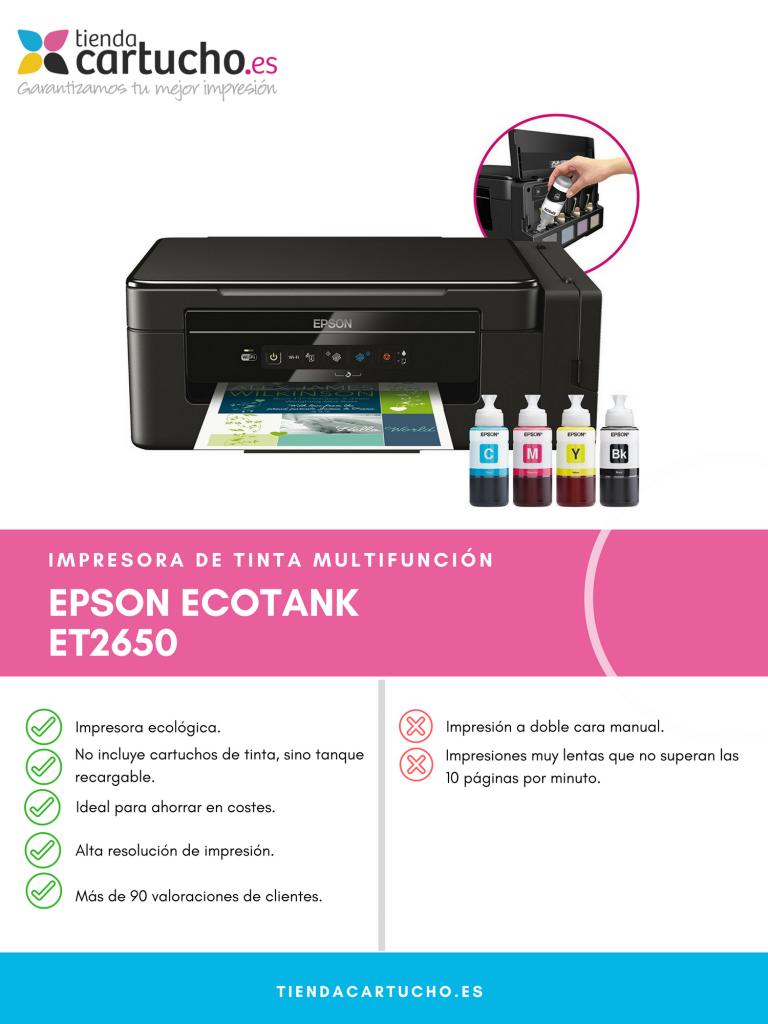 Descubre la Epson Ecotank ET-2650