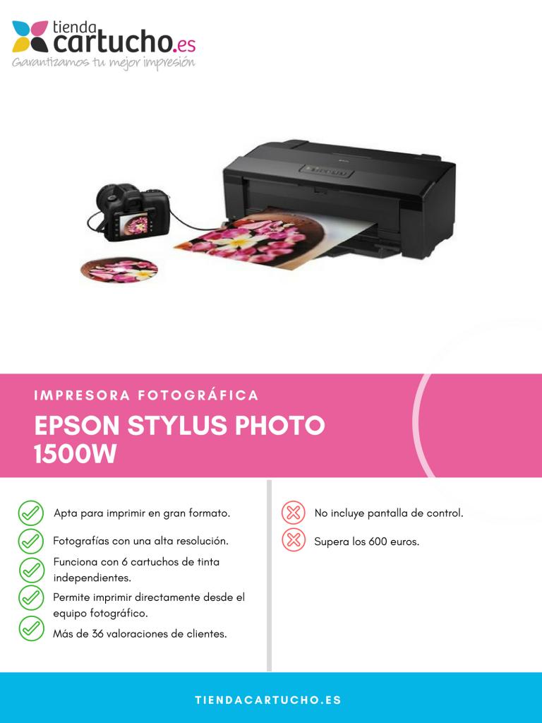 Descubre la Epson Stylus Photo 1500W