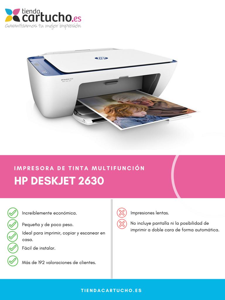 Descubre la HP Deskjet 2630