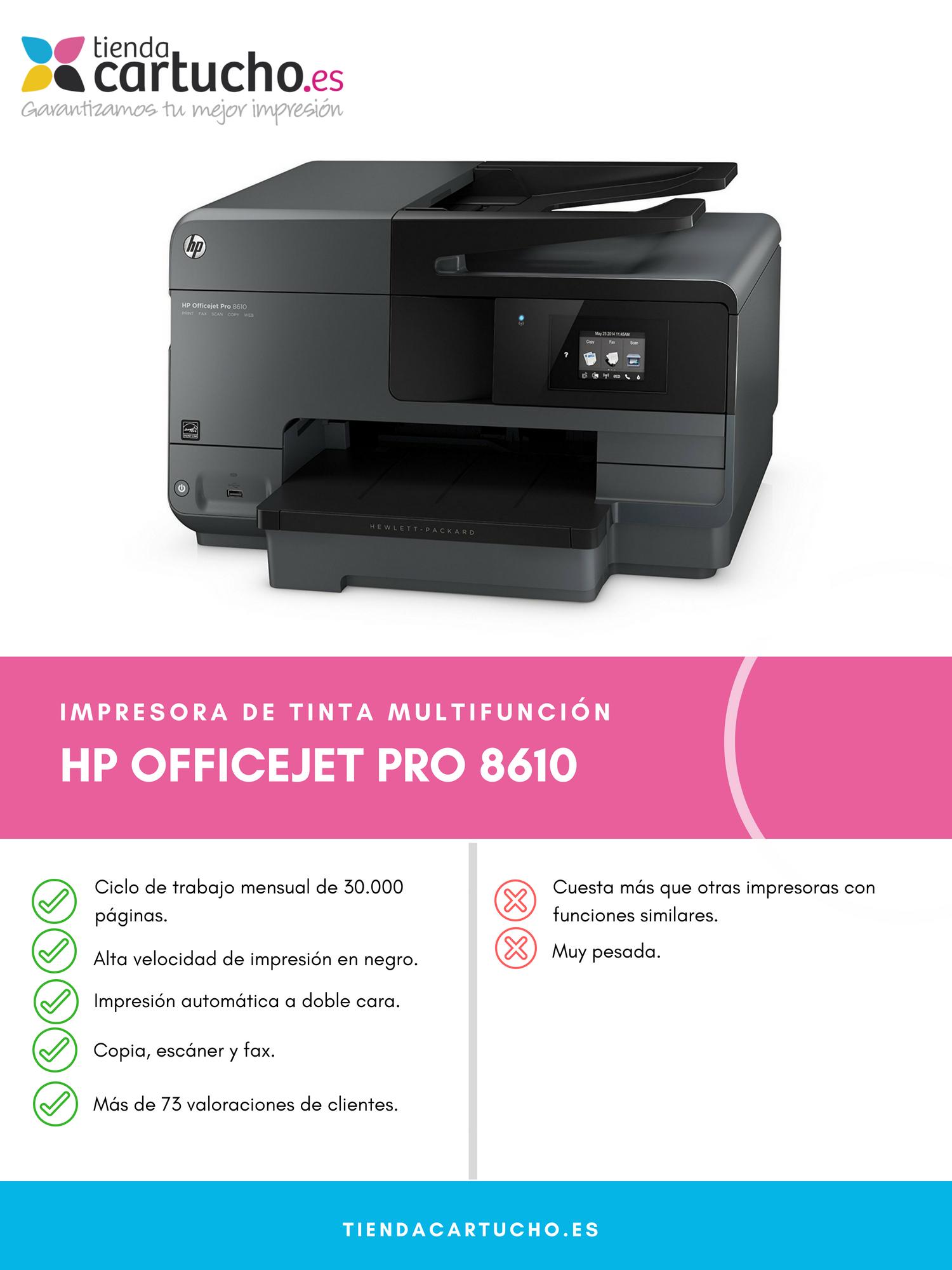 Descubre la HP OfficeJet Pro 8610