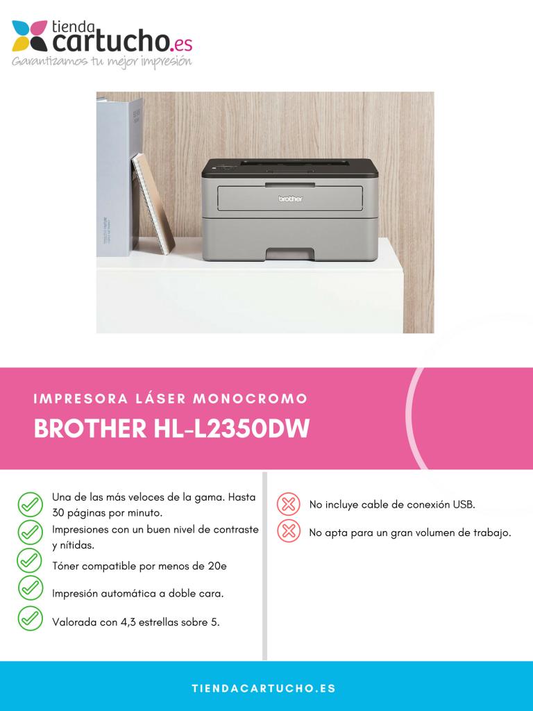 Descubre la Brother HL-L2350DW